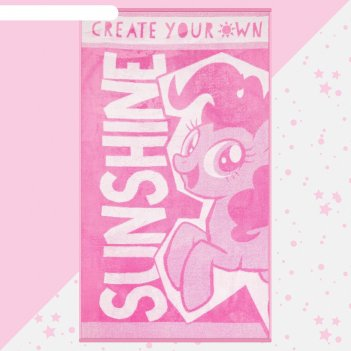 Полотенце махровое sunshine my little pony, 70х130 см, 100% хлопок, 420гр/