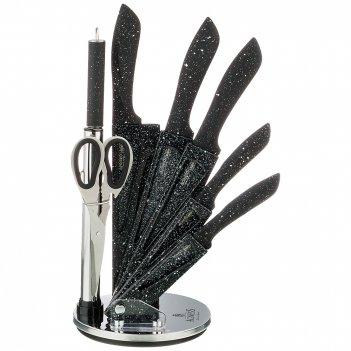 Набор ножей agness с ножницами и мусатом на пластиковой подставке, 8 предм