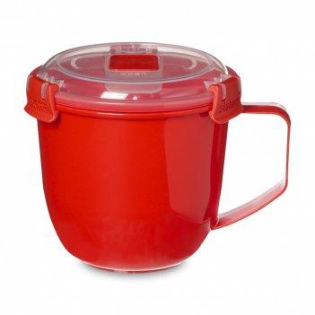 Кружка суповая, объем: 900 мл, материал: пластик, цвет: красный, серия mic