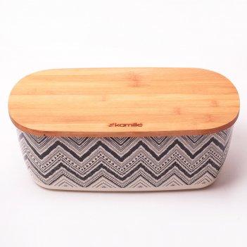 Хлебница kamille 36*20.2*13.5см из бамбукового волокна с бамбуковой крышко