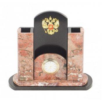 Мини-набор герб креноид змеевик 195х80х170 мм 1660 гр.