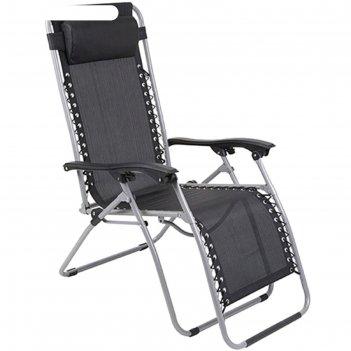 Кресло-шезлонг gogarden fiesta 94х69х112 см, цвет черный