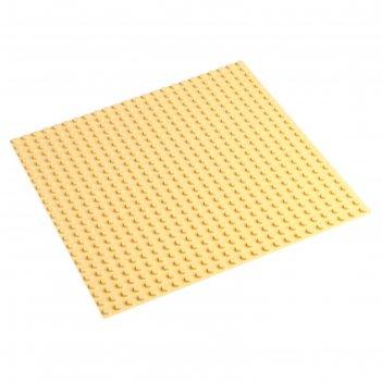 Пластина-основание для конструктора 38,5х38,5 см (диаметр 0,8 см), цвет бе