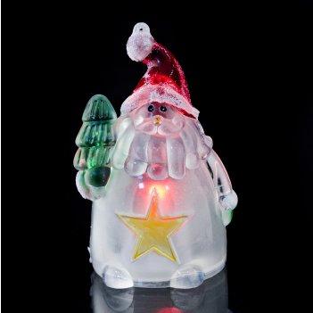 Фигурка дед мороз с подсветкой высота=9 см.