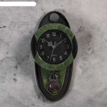 Часы настенные, серия: маятник, кандо, 17.5х35 см, зеленые