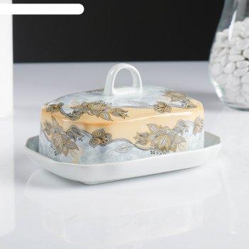 Маслёнка, 18x13,5x10 см, кремовая