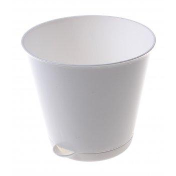Горшок для цветов 0,7 л крит, d=12 см, система прикорневого полива, белый