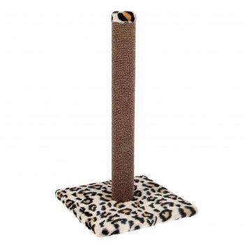 Когтеточка ковролиновая столбик №2, 54 х 31 см, микс