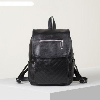 Рюкзак молод марина, 24*12*30, отд на молнии,н/карман, черный