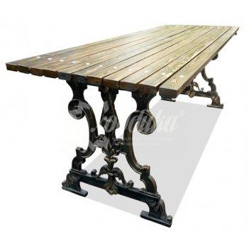 Стол садовый чугунный «ампир» 2,0 м