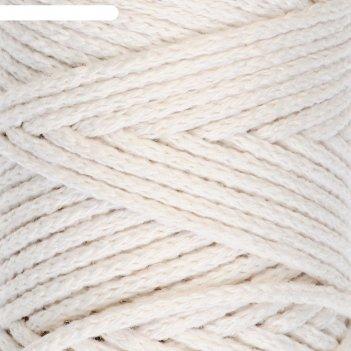 Шнур для вязания без сердечника 100% хлопок, ширина 3мм 100м/250гр (2264 в