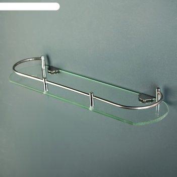 Полка для ванной комнаты, металл, стекло