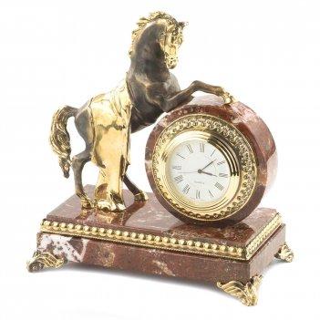 Часы конь с попоной креноид бронза 165х100х185 мм 2200 гр.