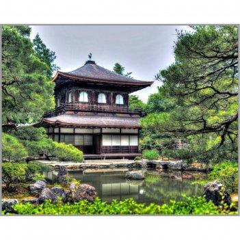Алмазная мозаика «сады киото» 40x50 см, 40 цветов