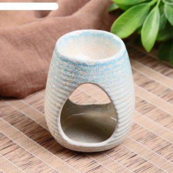 Аромалампа керамика полоски микс 8,2х6,3х6,3 см