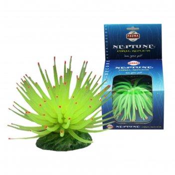 Декорация fauna int коралл, 13х13х10см, зеленый
