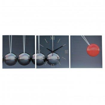 Часы настенные модульные «шарики», 35 x 110 см