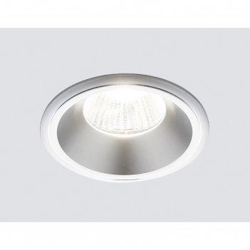 Светильник встраиваемый, mr16, gu5.3, цвет серебро, d=60 мм