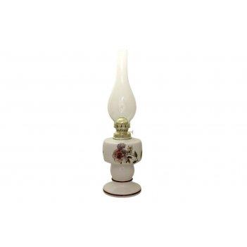 Ваза для цветов на ножке bohemia gold oval красная 35см