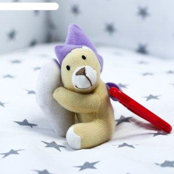 Крошка я подвеска мягкая мишка на облаке