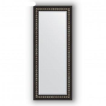 Зеркало с фацетом в багетной раме - черный ардеко 81 мм, 60 х 145 см, evof