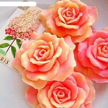 Силиконовая форма для мыла роза дрим