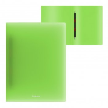 Папка а4 с пружин скоросшив erichkrause neon зеленая 47011