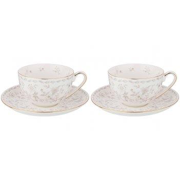 Набор чайных пар на 2 персоны emily 2пр. 280мл