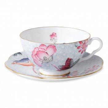 Пара чайная кукушка, объем: 180 мл, материал: костяной фарфор, серия cucko
