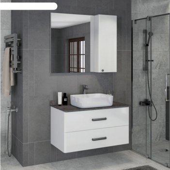 Зеркало-шкаф comforty «амстердам-95» белый