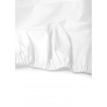 Простыня на резинке 140х70см white
