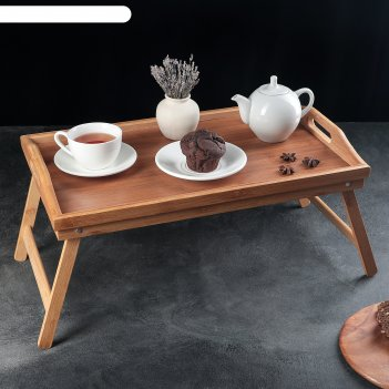 Столик для завтрака 50x30 см, бамбук