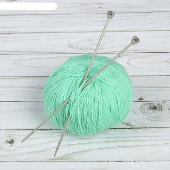 Спицы для вязания, прямые, с тефлоновым покрытием, d = 3 мм, 20 см, 2 шт