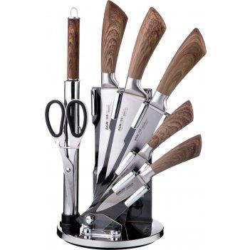 Набор ножей с силиконовыми ручками на складывающей...