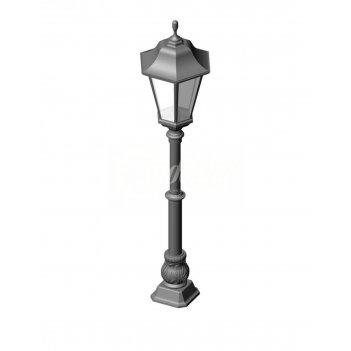 Фонарный столб ст-01 со светильником ретро