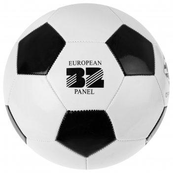 Мяч футбольный сlassic, размер 5, 32 панели, pvc, 2 подслоя, машинная сшив