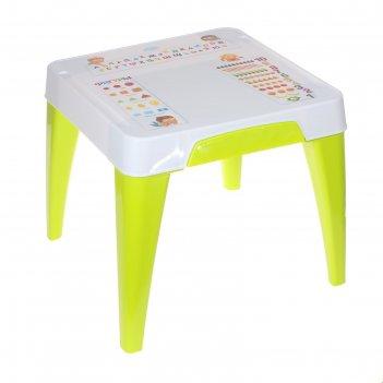 Детский стол я расту. обучайка, цвет салатовый
