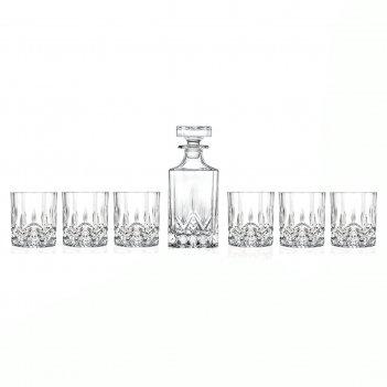 Набор для виски rcr opera 7 предметов 750 мл/300 мл