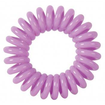 """Резинки для волос dewal beauty """"пружинка"""", цвет фиолетовый (3 шт"""