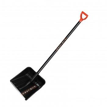 Лопата пластиковая, ковш 410 x 410 мм, с металлической планкой, металличес