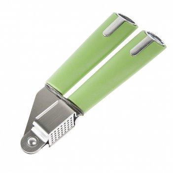 Пресс для чеснока 19*6,5*2см. (зеленый) (нержавеющая сталь, пластик) (упак