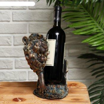 Подставка для бутылки лев 17х15.2х26см