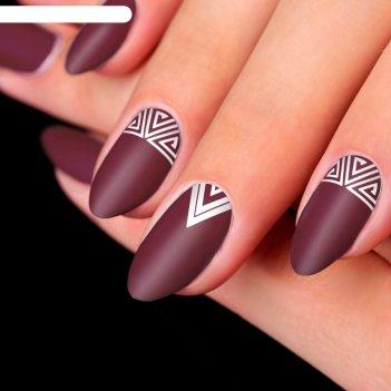 Трафареты для ногтей «треугольники», 2 вида
