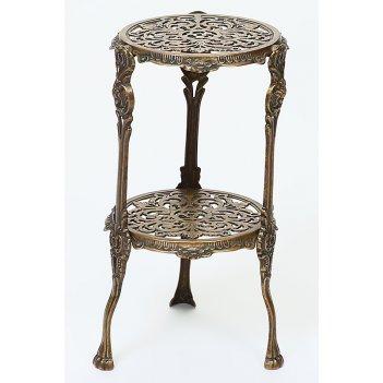 Столик (2 столешницы, круглые), 25х44 см
