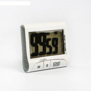 Таймер электронный luazon ltb-02, работает от 1 ааа не в комплекте, белый