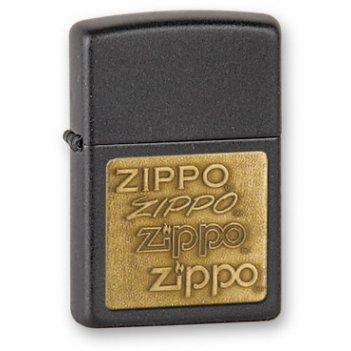 Зажигалка zippo black crackle, латунь с порошковым покрытием