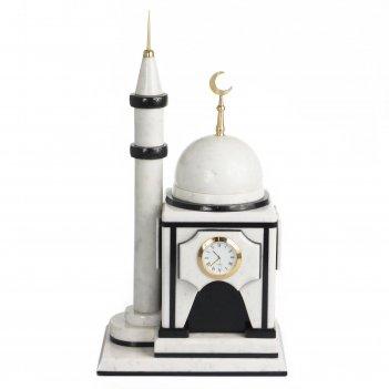 Часы мечеть малая мрамор 200х150х375 мм 5700 гр.