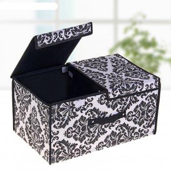 Короб для хранения с двойной крышкой классика. вензель