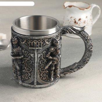 Кружка средневековье. стража 400 мл, 16х9х11,5 см