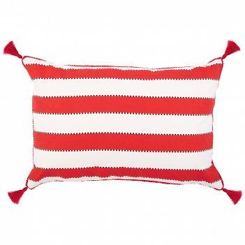 Подушка декоративная акцент,40х60см, 100% хлопок ,белый